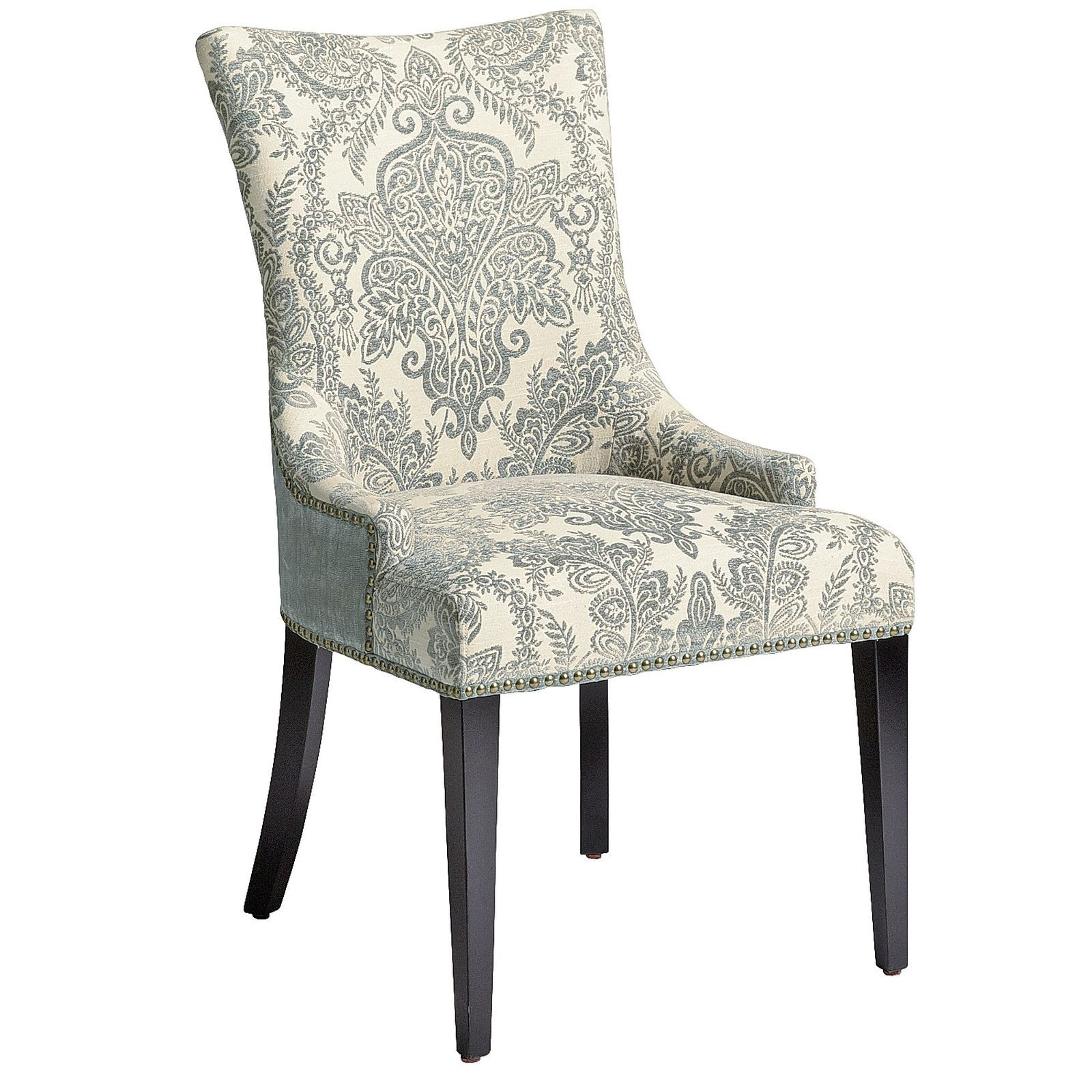 pier one blue accent chairs stretch chair slipcovers t cushion 1 imports adelle smoke dining nailhead