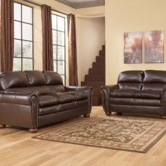 Ashley Axiom Leather Sofa Lazy Boy Atlanta Uk Furniture Brown Sweet
