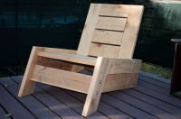 modern/vintage reclaimed wood deck chair. $275.00, via