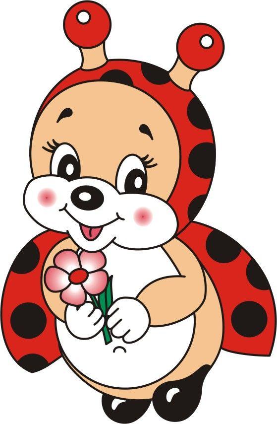 ladybug girl holding flower cheryl's