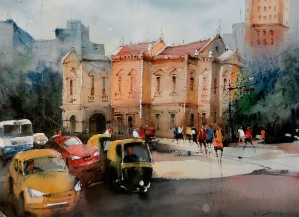 Watercolor Painting Cityscapes