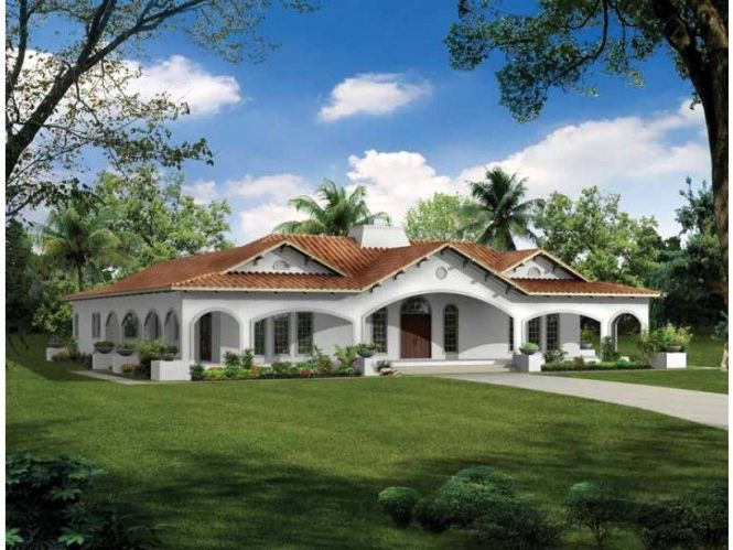 Spanish Revival House Plan With 2539 Square Feet And 3 Bedrooms From Dream Home Source