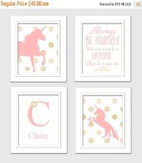 ON SALE NOW Pink and Gold Nursery Unicorn nursery by ...