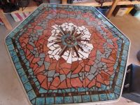 Mosaic table top made on a plywood backing to replace a ...