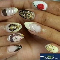 """Nail Art Inspired by Disney's """"Beauty and The Beast ..."""