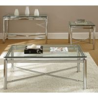Natal Chrome and Glass Coffee Table - Overstock Shopping ...