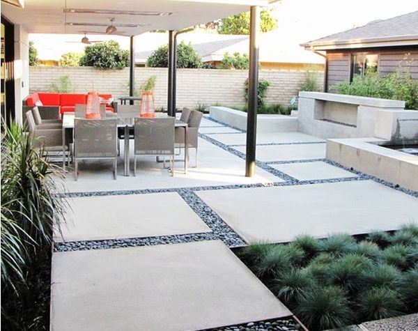 12 DIY Inspiring Patio Design Ideas Circles Concrete Patios And