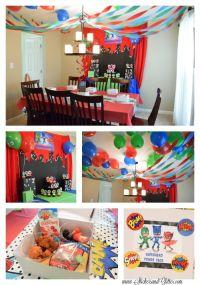Stickers & Glitter: PJ Masks Birthday Party | PJ Masks ...