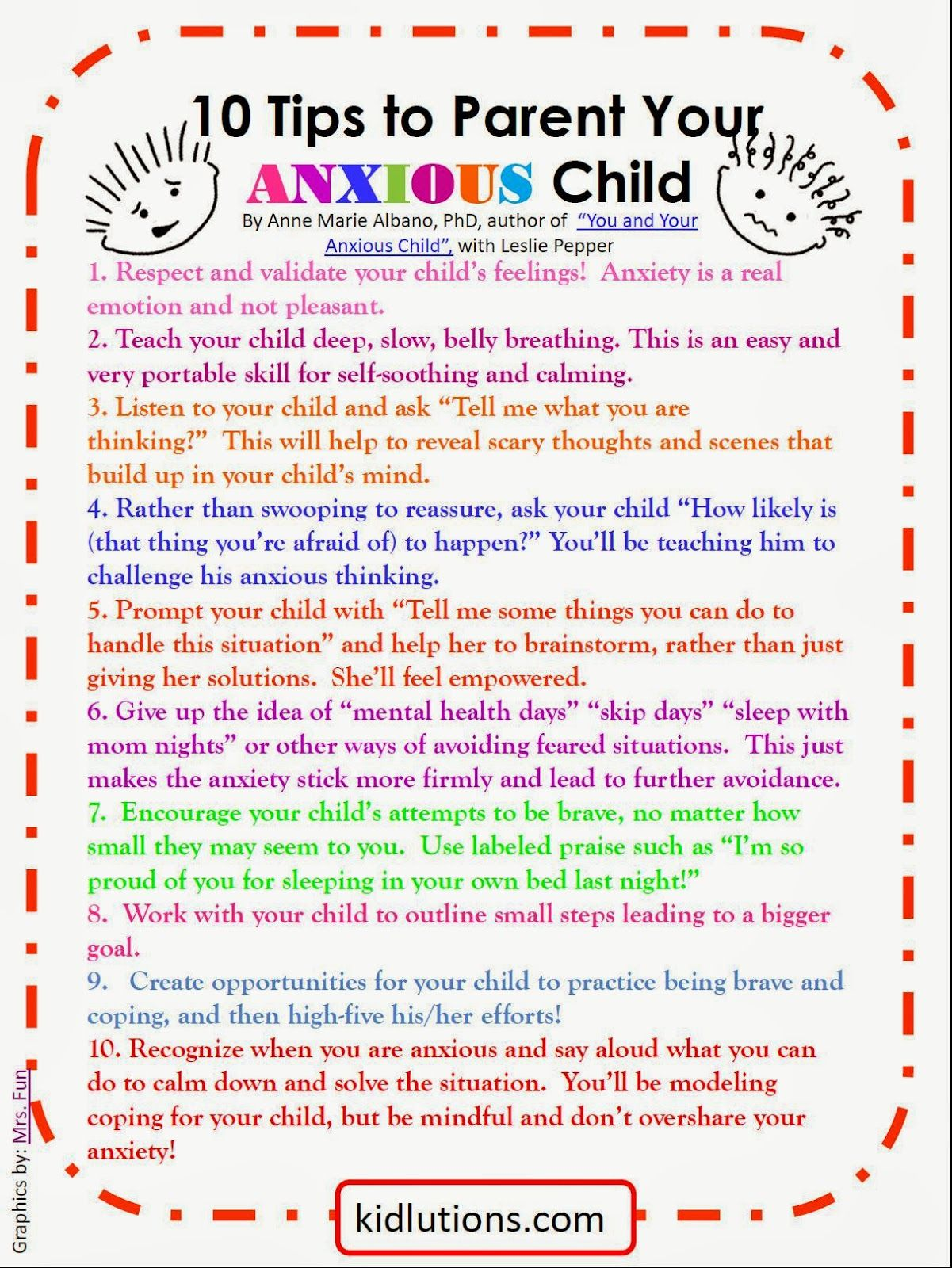 Spin Doctor Parenting 10 Tips To Parent Your Anxious Child