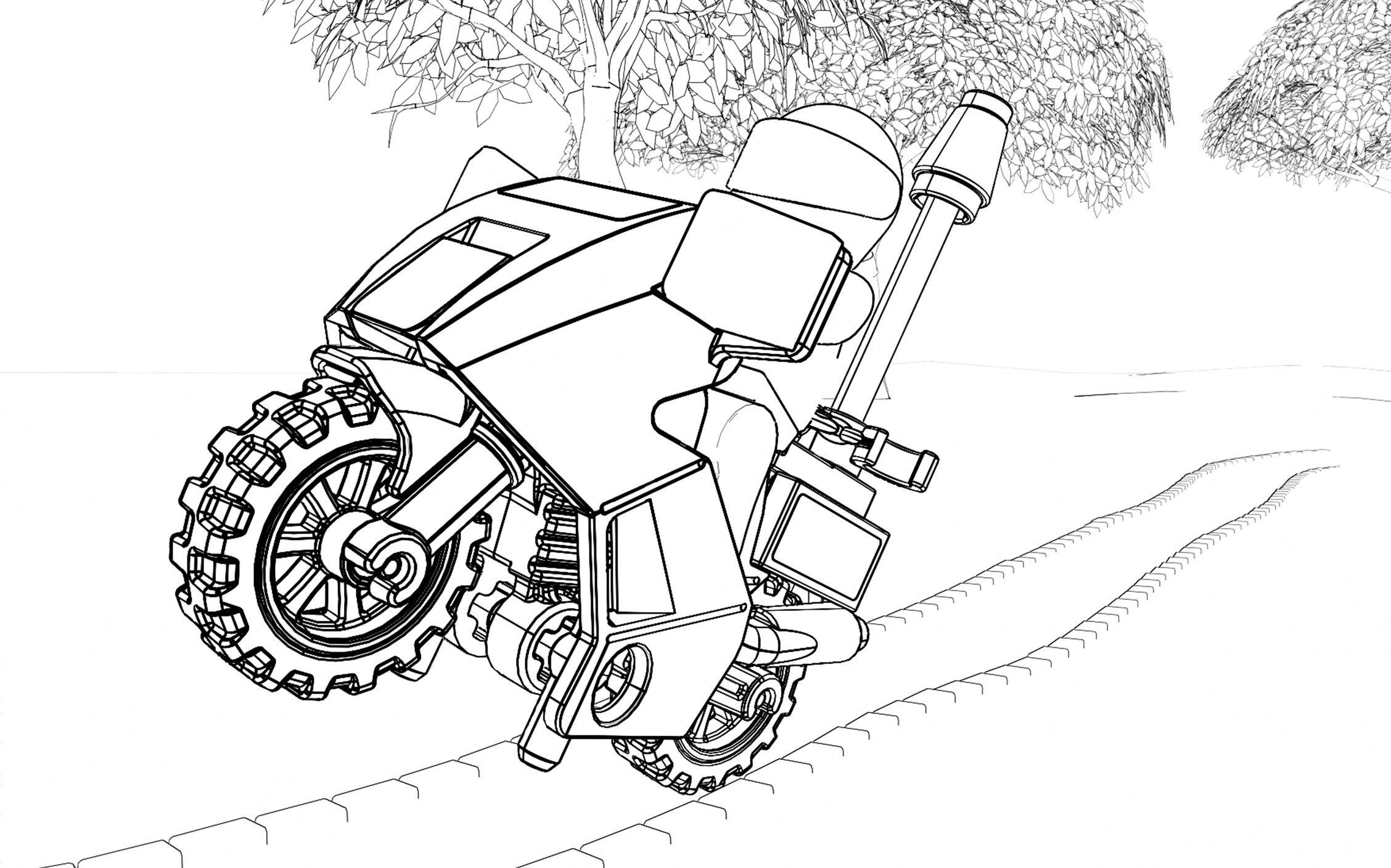 Ausmalbilder Polizei-Motorrad 81 Malvorlage Polizei