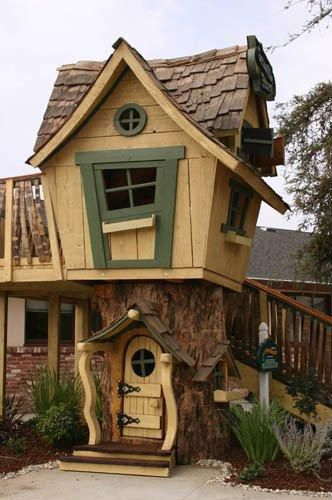 Unique Childrens Playhouse Rustic Dwellings And Magical