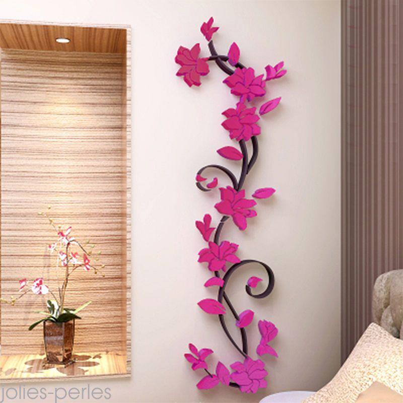 Hot us stock  flower room decor diy wall sticker removable acrylic decal mural also rh nz pinterest
