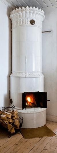 Traditional Scandinavian Fireplace   Swedish style ...