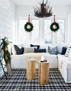 Decoration also small town charm gets  simple christmas makeover seasonal decor rh uk pinterest