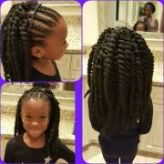 little girl crochet with cornrows
