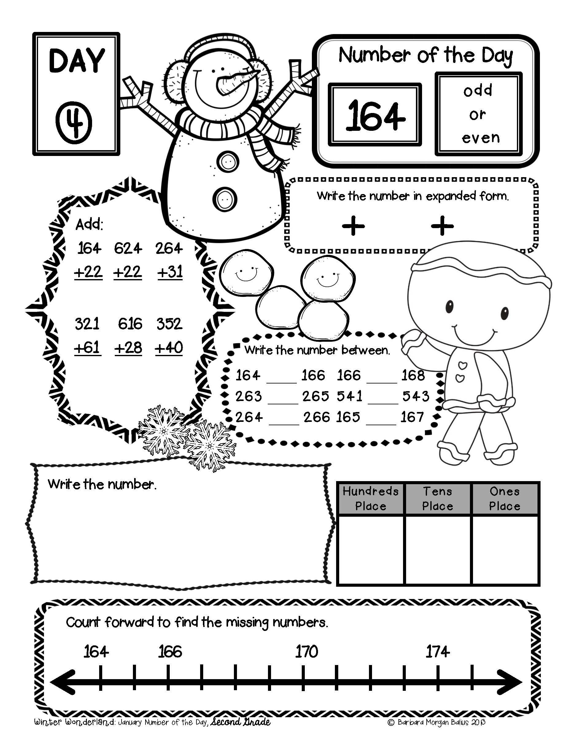 Second Grade Math Back to School Place Value Bundle Number
