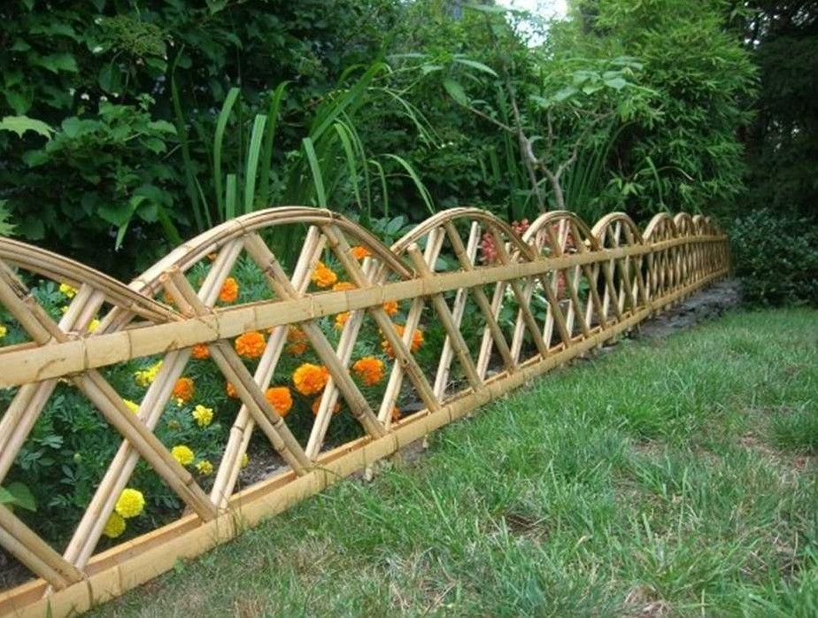 Bamboo Garden Fence Ideas Pinteres