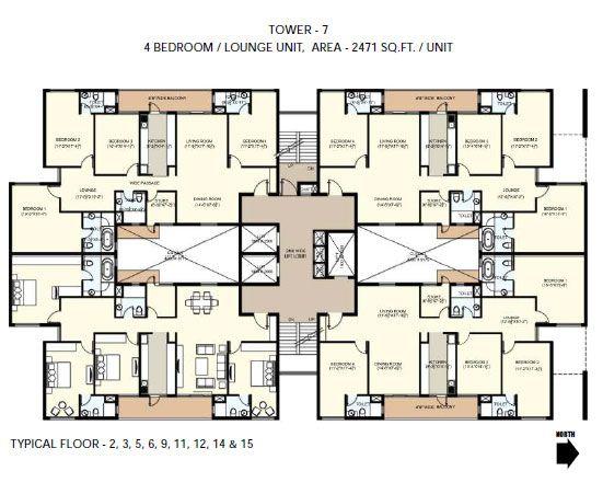 4 Floor Apartment Plan