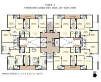 4 Floor Apartment Plan