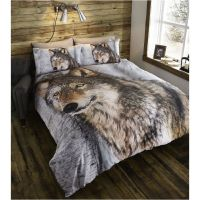 Double Duvet Cover & Pillowcases Bedding Bed Set Brown