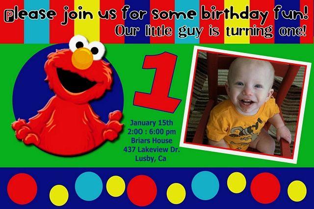 Elmo Birthday Invitations Template 2nd Birthday Themes