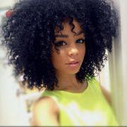curly afro dark