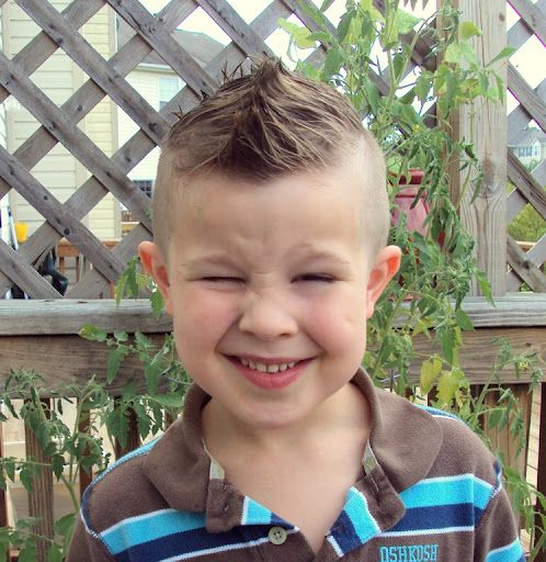 Awesome Kids Mohawk Hairstyle For Guys With Smile Toddler