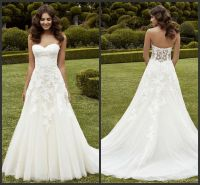 Simply A Line Wedding Dresses Strapless Sweetheart ...