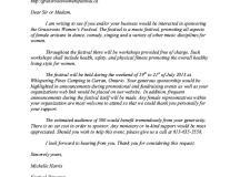 Sponsorship Request Letter Sample - http://resumesdesign ...