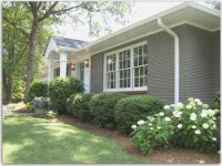 Painted Brick Before And After shapwee | Home Exterior ...