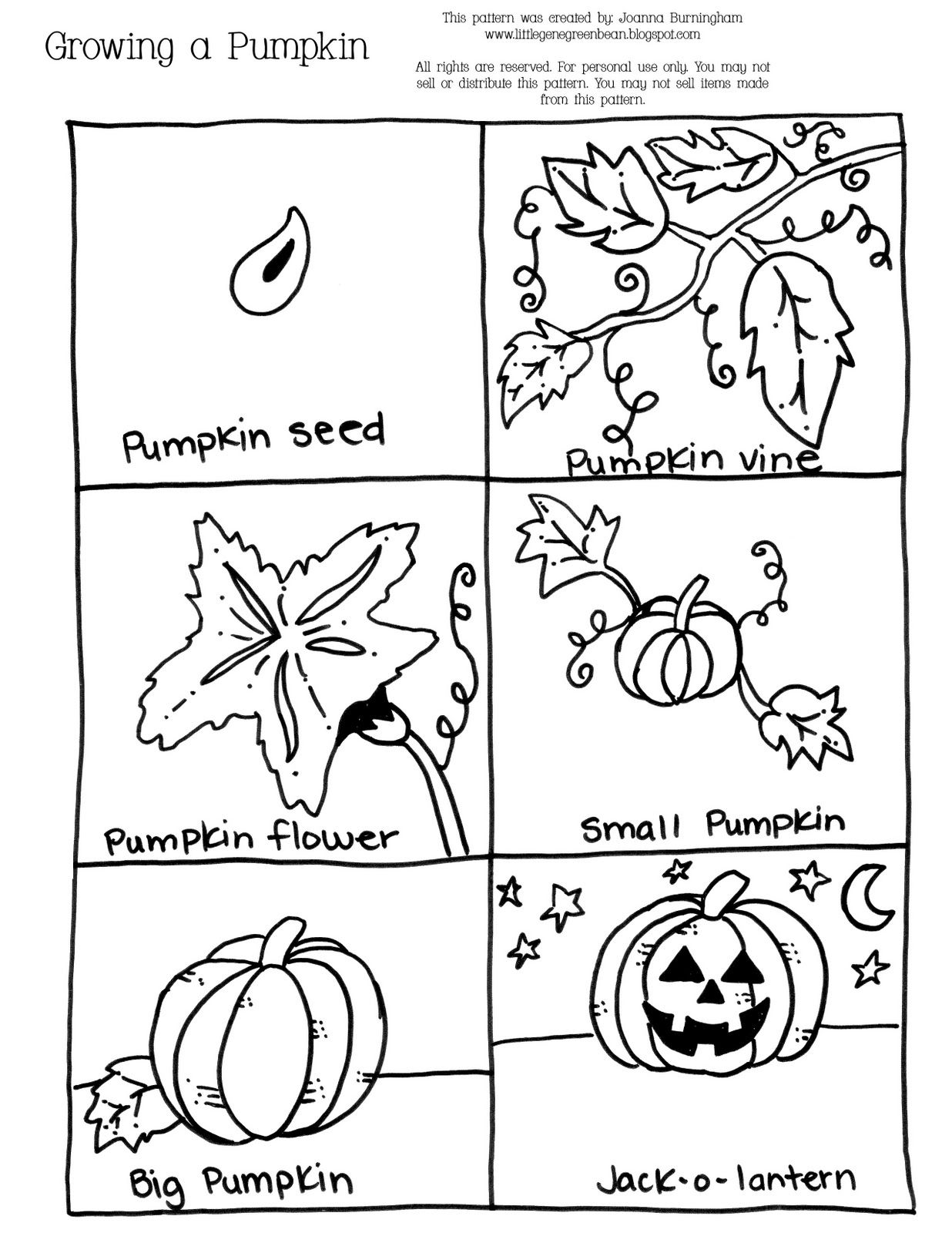 Pumpkin Growth Sequencing Sheet Halloween Repinned By