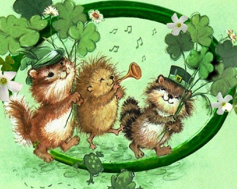 Cute critters st patricks day shamrock britain ireland