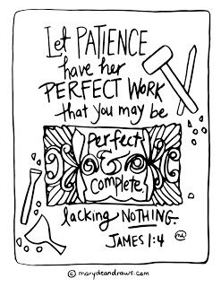 James 1:4 Bible verse coloring page