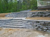 terraced retaining walls | Terraced Ashlar Block Wall ...