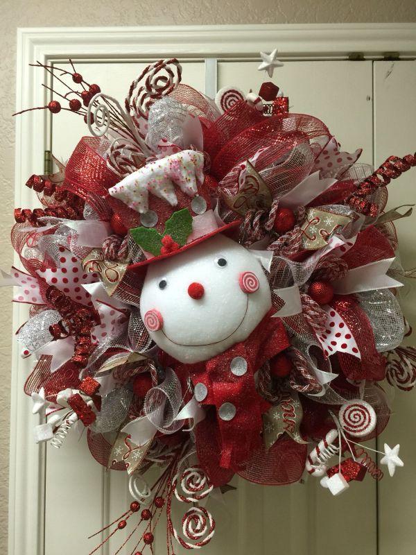 Snowman Christmas Wreath Ideas