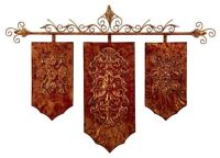Copper Finish Medieval Banner Wall Art NEW | Copper ...