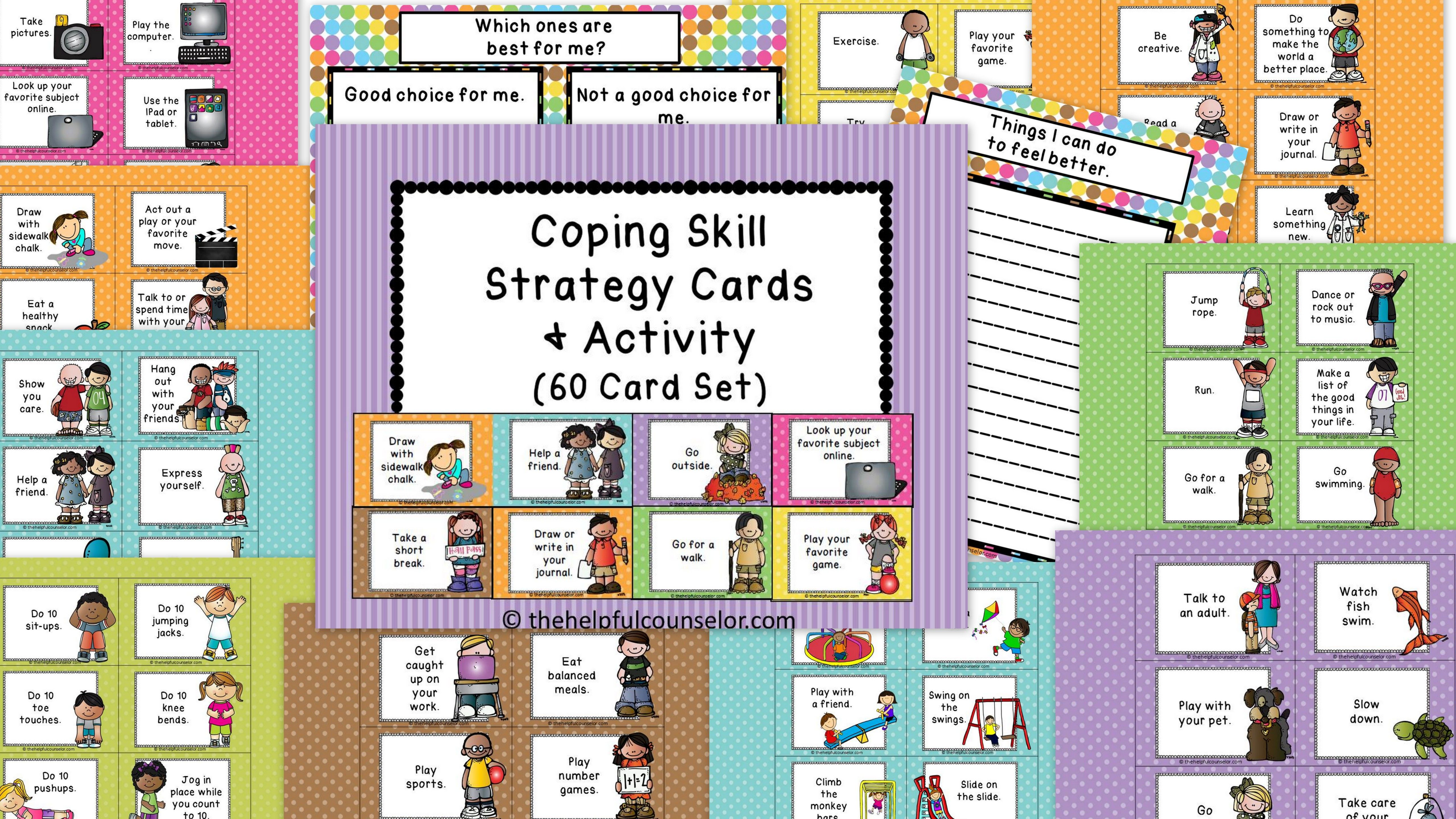 Coping Skills Making Good Choices Activity
