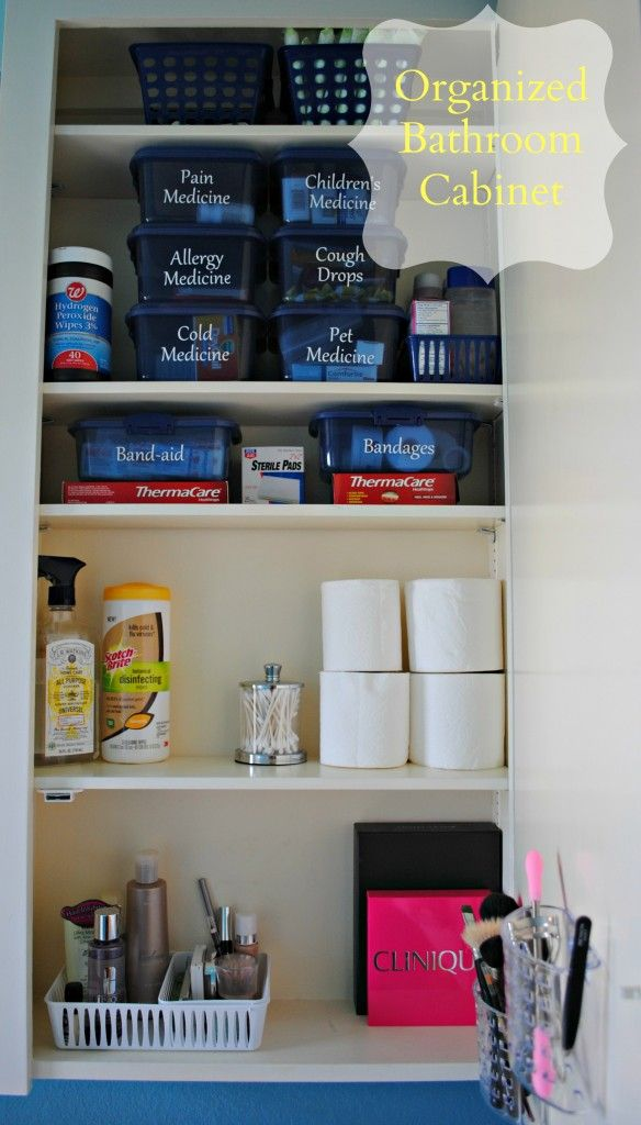 Organized medicine cabinets on Pinterest  First Aid