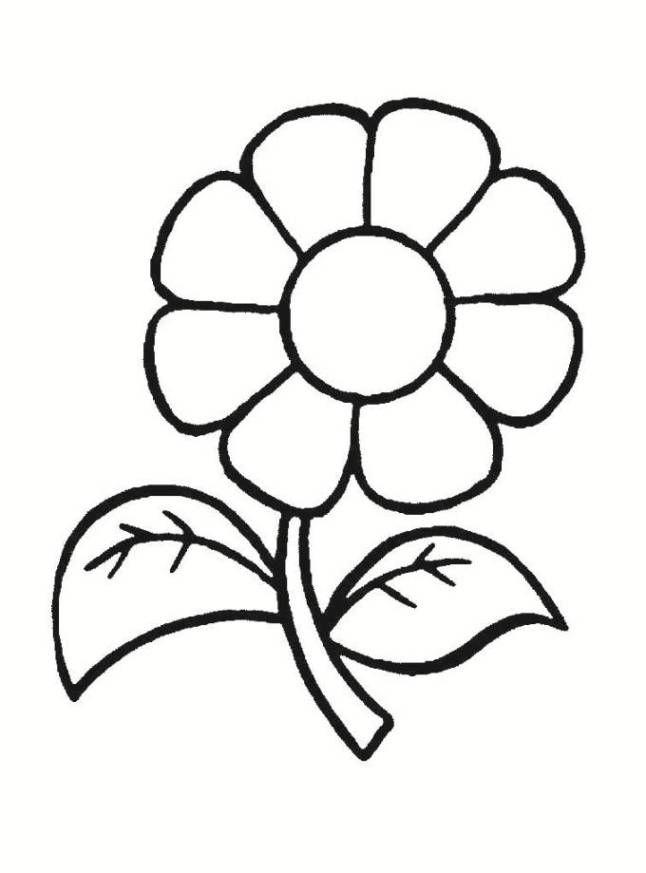 Ausmalbilder Blumen Malvorlagen 01