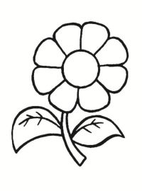 Ausmalbilder Blumen Malvorlagen 01 | 1.Klasse | Pinterest ...