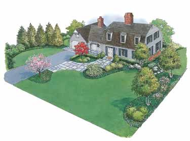 Colonial House Landscape Google Search Front Yard Landscaping