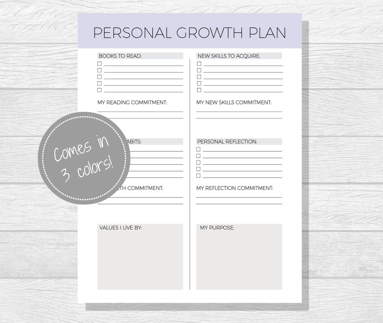 Personal Growth Plan Printable