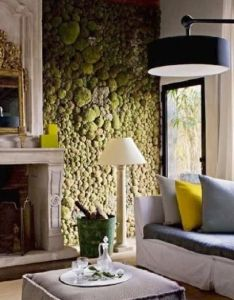 For garden walls french designer gilles jauffret   moss stone wall is to say the least unusual and interesting green in house also indoor eco design my future home pinterest rh