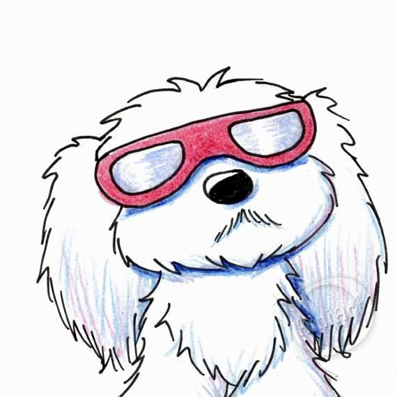 Mini Kini Original Maltese Dog Art Minis Originals And