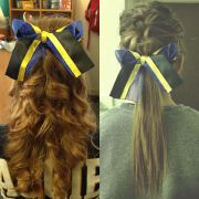 cheer hair spirit hair. diy
