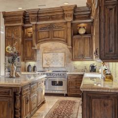 Elegant Kitchen Cabinets Las Vegas Cabinet Refacing Ideas Tuscan   , Island & Dining Space ...