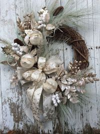 Victorian Christmas Wreath, Silver and Gold Christmas ...