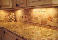 travertine tile backsplash | Tuscan Vineyard Tile Murals ...
