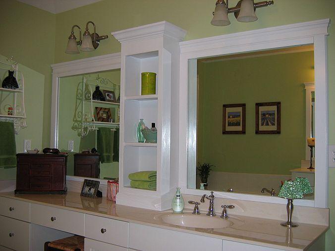 how to frame a bathroom mirror | diy mirror, moldings and bathroom