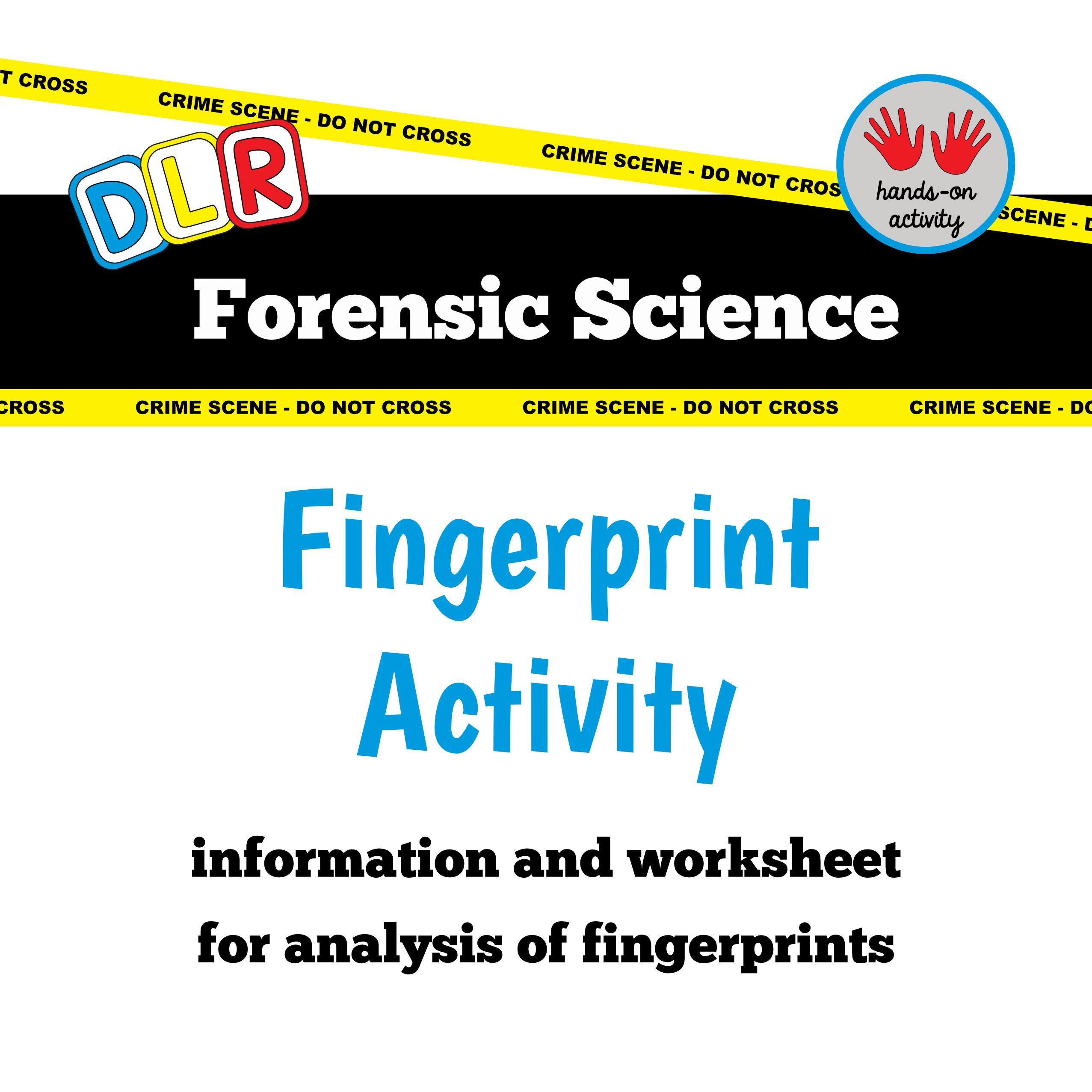 Forensic Science Free Worksheet Fingerprint